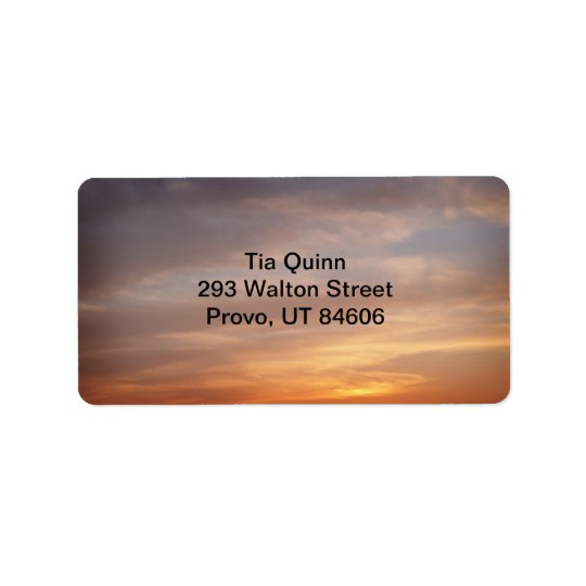Sunset Colours Address Label