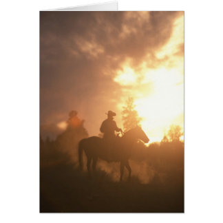 Sunset Cowboy Greeting Card