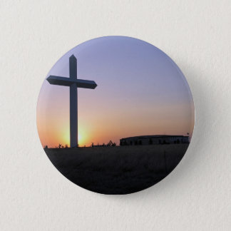 Sunset cross 6 cm round badge