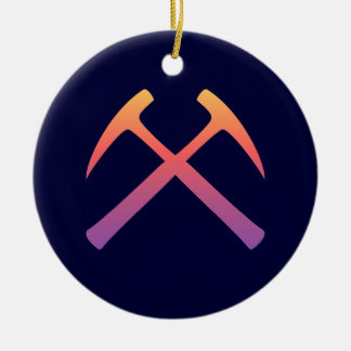 Sunset Crossed Rock Hammers Ornament