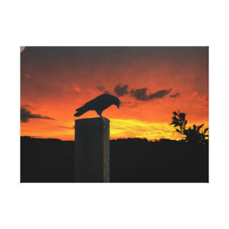 Sunset Crow Canvas Print