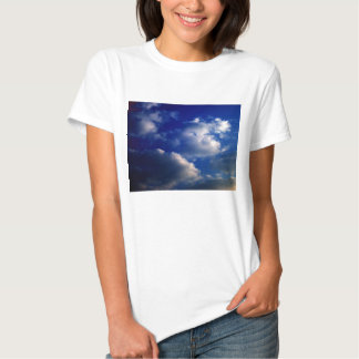 Sunset Cumulus humilis and Dark Blue Sky by KLM Tee Shirt