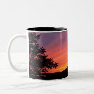 Sunset Curtains Two-Tone Mug