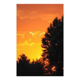 sunset customised stationery