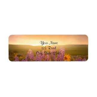 Sunset Daisies Return Address Label