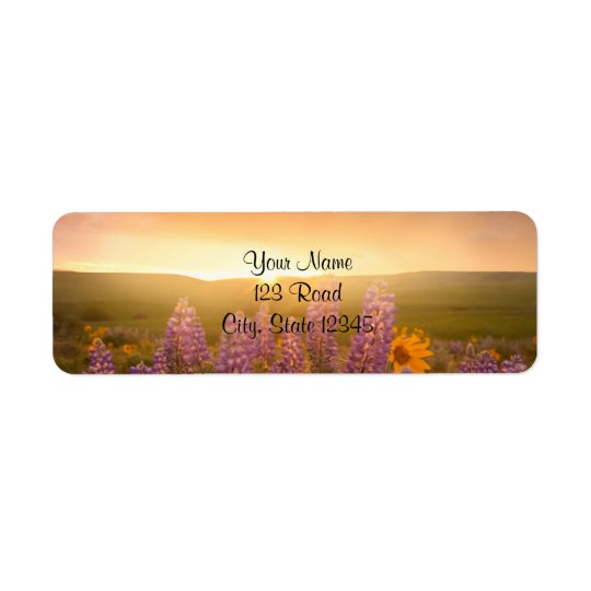 Sunset Daisies Return Address Label