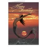 sunset dance happy birthday card