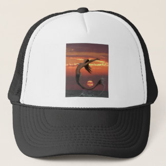 sunset dance trucker hat