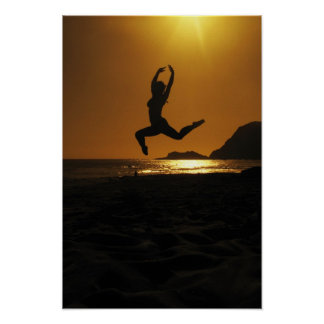 Sunset dancing poster