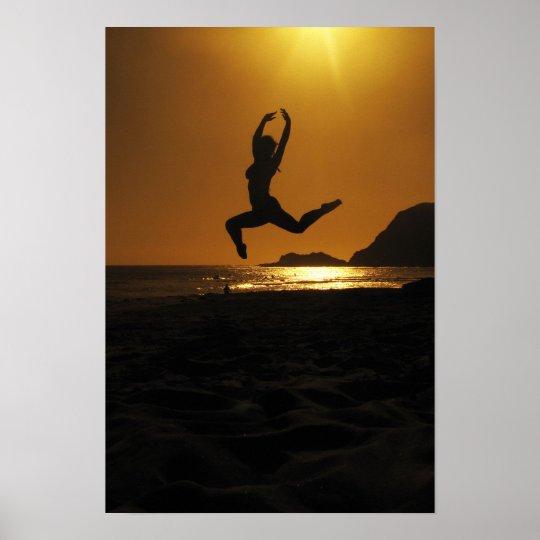 Sunset dancing poster