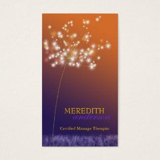 Sunset Dandelion Unique Professional Business Card