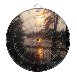 sunset darboard dartboard