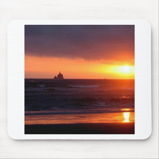 Sunset Day At Beach Mousepads