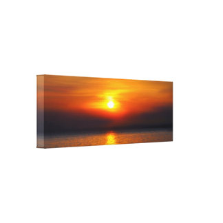 sunset decor gallery wrap canvas