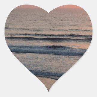 Sunset Del Mar California Heart Sticker
