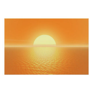 Sunset delight poster
