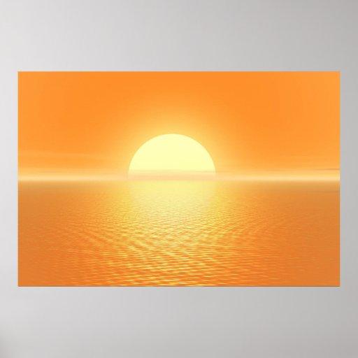 Sunset delight poster