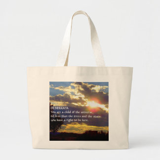 Sunset DESIDERATA Large Tote Bag