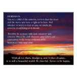 Sunset DESIDERATA Print