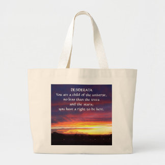 Sunset DESIDERATA Canvas Bags