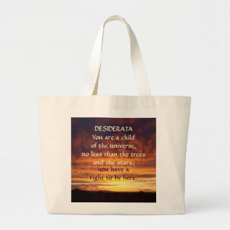 Sunset DESIDERATA Canvas Bags