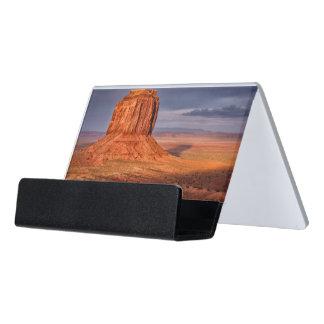 Sunset Desk Business Card Holder