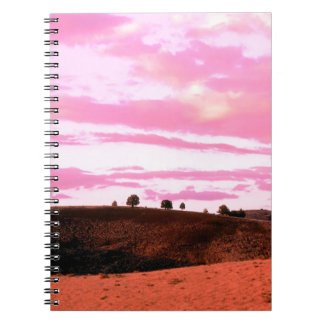 Sunset Diamond Craters Natural Gon Note Book