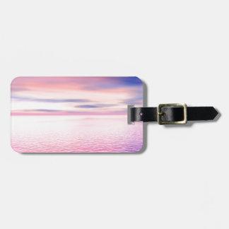 Sunset digital art luggage tag
