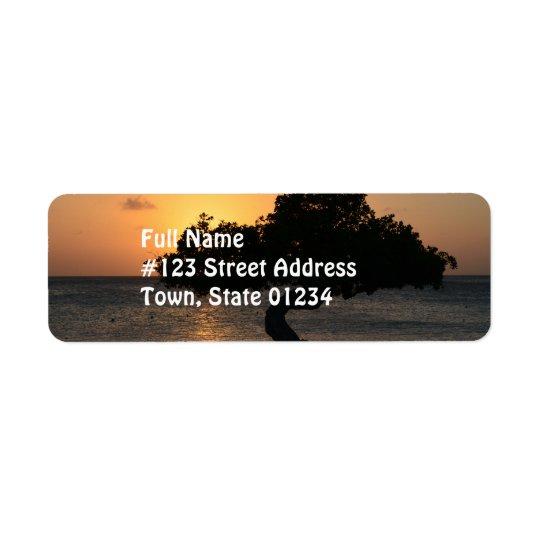 Sunset Divi Divi Tree Return Address Label