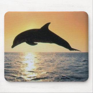 Sunset Dolphin Mousepads
