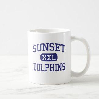 Sunset - Dolphins - Continuation - Encinitas Basic White Mug