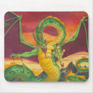 Sunset Dragon Mouse Pad