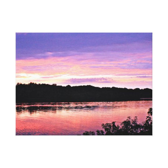 Sunset Dream over the Delaware Canvas Print