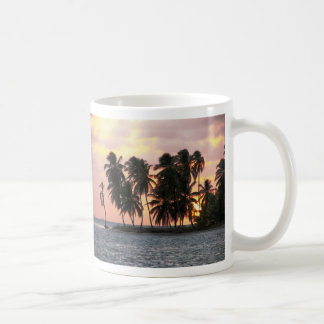 Sunset, E Lemmons, Kuna Yala, Panama Basic White Mug