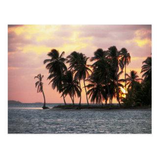 Sunset, E Lemmons, Kuna Yala, Panama Postcard