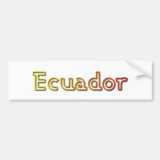Sunset Ecuador bumper sticker