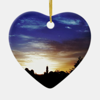 Sunset Europes Fortune Ceramic Heart Decoration