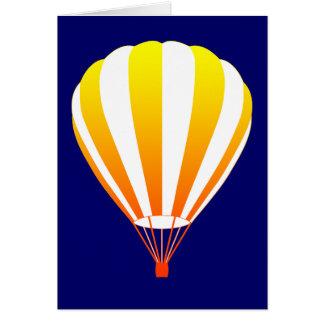 sunset fade hot air balloon greeting card