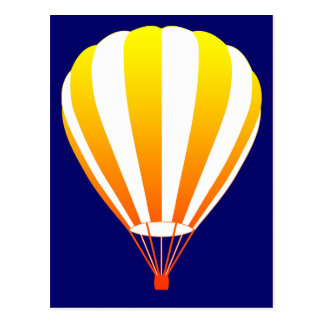 sunset fade hot air balloon postcard