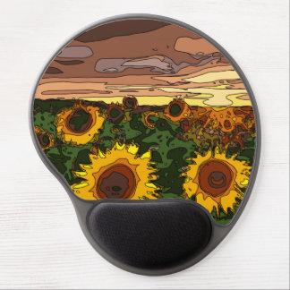 Sunset Field of Sunflowers Gel Mouse Mat