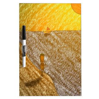 Sunset Fisherman Dry Erase Board