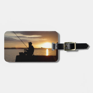 Sunset Fishing Point Of View Luggage Tag