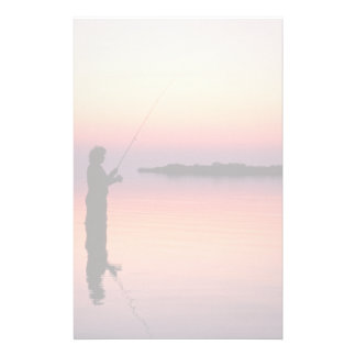 Sunset fishing stationery