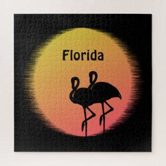 Sunset Flamingos Jigsaw Puzzle