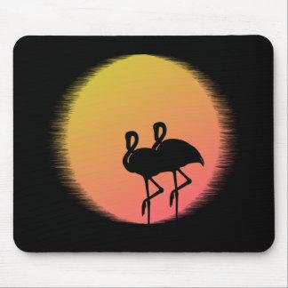 Sunset Flamingos Mouse Mat
