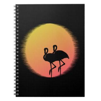 Sunset Flamingos Notebook