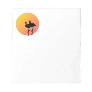 Sunset Flamingos Notepad