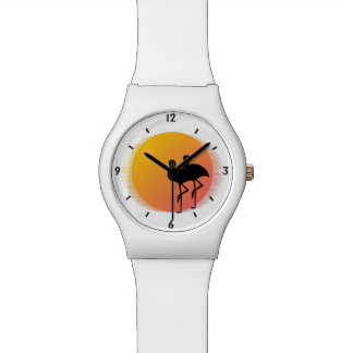 Sunset Flamingos Watch