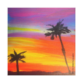 Sunset Flips Painting Stretched Canvas Prints