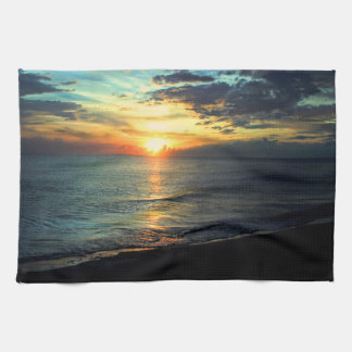 Sunset Florida Beach Tea Towel